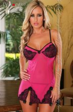 Provocative Lady Evasion Chemise Hot Pink